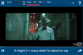 Lyrics Training - Fremdsprachenkenntnisse mit Musikvideos verbessern
